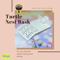 Turtle Nest Bask Platform Tempat Berjemur Akuarium Reptil Kura-kura M