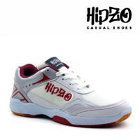 Sepatu Pria Olahraga Hipzo Sepatu Pria Badminton Sepatu Cowok Terbaru - Putih Merah, 39