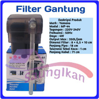 Slim Hanging Hang On Filter Gantung Aquarium Aquascape YAMANO MP 44