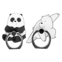 MINISO Smart Grip Ring Holder Phone Mobile Stand HP We Bare Bears 2Pcs