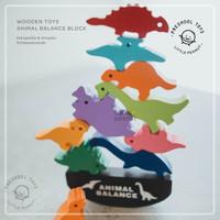 Wooden Animal Balance Block / Mainan Edukasi