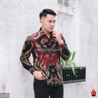 Baju Kemeja Batik Pria Lengan Panjang Pendek Modern Pesta Kantoran G02