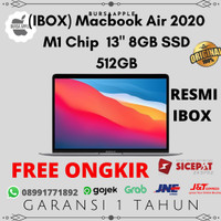 "(IBOX) Macbook Air 2020 M1 Chip MGN73 MGNA3 MGNE3 13"" 8GB SSD 512GB"
