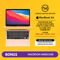 New MacBook Air 2020 13 inch M1 Chip 8 Core CPU/ 8 Core GPU/ 512GB SSD
