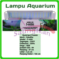 Lampu Led Aquarium Aquascape KANDILA S400 S 400 PUTIH BIRU 6 BARIS