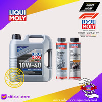 [Paket Ganti Oli Mobil] Leichtlauf MOS2+Engine Flush+Oil Additive