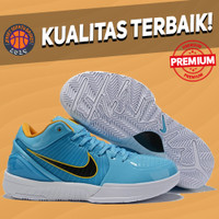 Sepatu Basket Sneakers Nike Kobe 4 Protro Blue DeRozan PE White