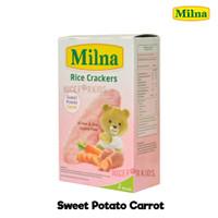 Milna Rice Crackers 20 gr Camilan Bayi Mpasi Snack Kue Beras - POTATO CARROT