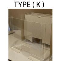 akrilik penyekat /pembatas meja kantor/kasir (80cmx60cm) - 3mm