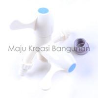 Kran Cabang Engkol PVC Shower FTA Keran Air Double Plastik Kamar Mandi