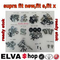 baut lengkap full set body honda supra fit new dan supra fit S