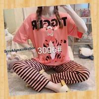 Piyama baju Tidur wanita dewasa Jumbo dengan bahan Kaos Spandex premiu