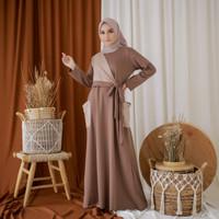 Mybamus Yava Pocket Dress Mocca-Khaki M14807 R4S3