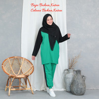 Setelan baju Trening senam wanita muslim