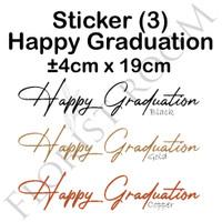 Sticker Balon Happy Graduation (3) - Balon - Hiasan - Kado - Wisuda