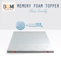 Domi Topper Memory Foam 90 x 200 Mattress Kasur Springbed Spring Bed