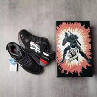 sepatu assic gell lyte III Joe black red ninja