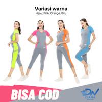 Set baju senam olahraga wanita dan celana senam panjang 3per4 jumbo