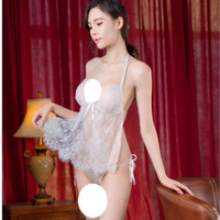 Baju Lingerie cd Babydoll Dress Sleepwear G-string Baju Tidur A176 sex