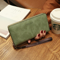 New Dompet Panjang Wanita Import Zipper Kopling Warna WABJ742 - Army, Add Buble Wrap