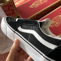 Sepatu Vans SK8 LOW CLASSIC BLACK/WHITE ORIGINAL BNIB PT NAVYA