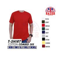Kaos polos pria/wanita/unisex cotton combed 30s premium murah merah