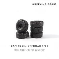 Ban Resin Diecast Off-road Offroad 1/64 15mm model Super Swamper