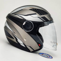 Helm Zeus ZS610 O14 MATT DSIL/SILVER Double Visor