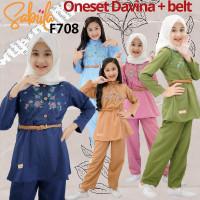 BAF708 Setelan Baju Muslim Anak Perempuan 5-11 tahun