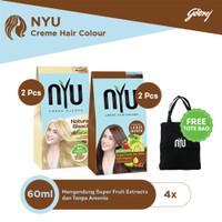 NYU Natural Bleach 2pcs & NYU Coppery Brown 2pcs FREE Tote Bag