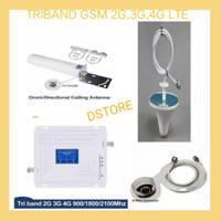 TRIBAND PENGUAT SINYAL HP/REPEATER/BOSTER/ANTENA GSM 2G,3G,4G LTE