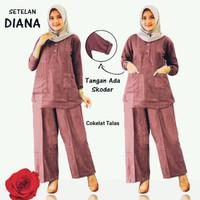 Setelan kulot Wanita Set Atasan & Celana Kulot Diana