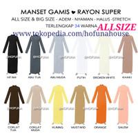 HOFUNA HOUSE Manset Gamis Allsize / Baju Dress Muslim Lengan Panjang