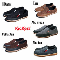 Sepatu Pria Slip On Casual Kickers / Sepatu Formal Slop Kerja Pria