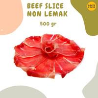 Beef slice non fat / teriyaki/Daging sapi Iris Tipis tanpa lemak 500 g
