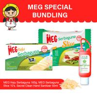 MEG Special Bundling-Sanitizer,Keju Serbaguna 165g,Serbaguna Slice 10s