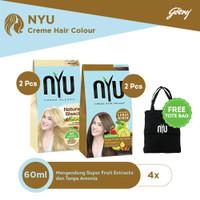 NYU Natural Bleach 2pcs & NYU Caramel 2pcs FREE Tote Bag