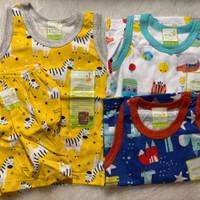 Setelan kutung singlet Velvet Junior size XXL baju anak