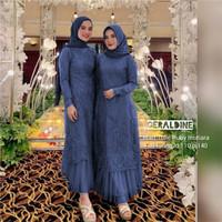 Baju Gamis Wanita Muslim Kondangan Dress Geraldine Ruby Mutiara Best