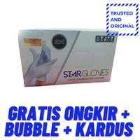 Trusted and Original Sarung Tangan Latex Star Glove Kemenkes Powder Fr