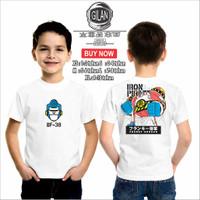Kaos Baju Anak IRON PIRATES FRANKY SHOGUN Kaos Anak Robot One piece - XS