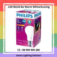 Philips LED Bulb 8w E27 Warm white - cahaya kuning