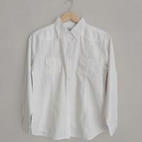 Baju Atasan Kemeja Wanita Putih Polos Premium Lengan Panjang Original