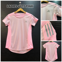Kaos Dri-Fit Sport Wanita ADIDAS Pink/MerahMuda 817 - Merah Muda, M