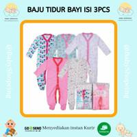 Sleepsuit Bayi isi 3 (0-3minggu) Piyama Bayi Sleep Suit Baby Premium