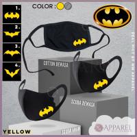 Masker scuba DEWASA Batman Tebal gramasi 300 high quality premium