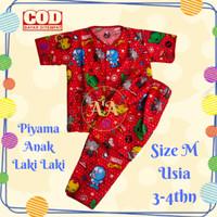 Piyama Anak Laki laki cowok Baju tidur size M usia 3 - 4 thn