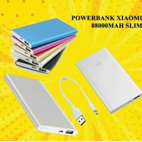 promo!!! Power Bank PORTABLE CHARGER Xiaomi SLIM STAINLESS MURAH - Hitam