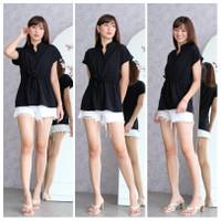 Blouse casual 1209 lengan pendek polos / Baju atasan wanita
