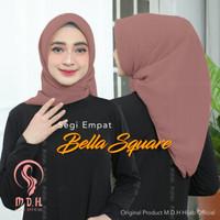 hijab segi empat bella square - brown pink